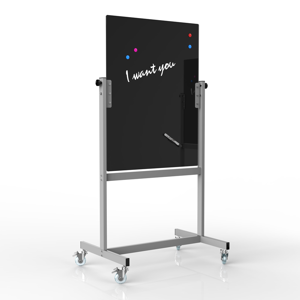 freestanding magnetic mobile glass board