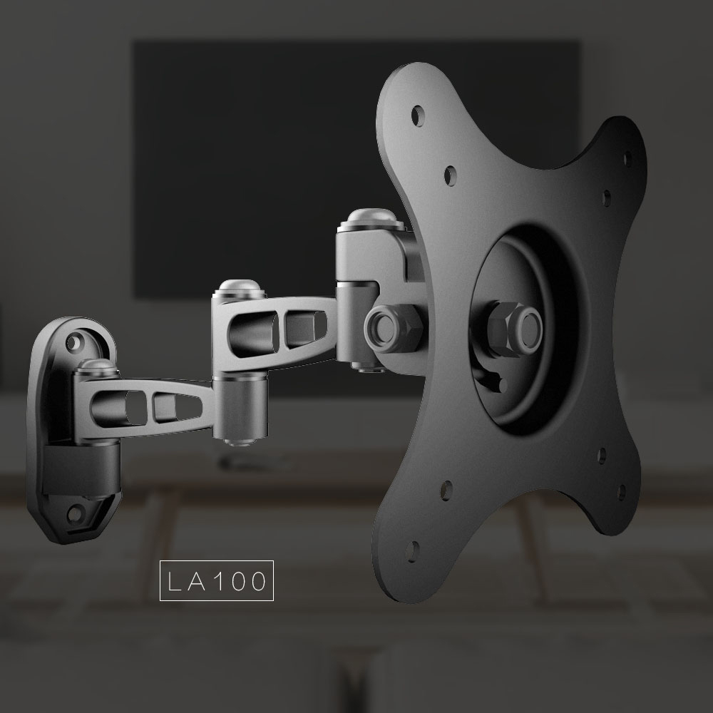 LA100-L Full motion wall mounted display bracket compatible with tv and tablet