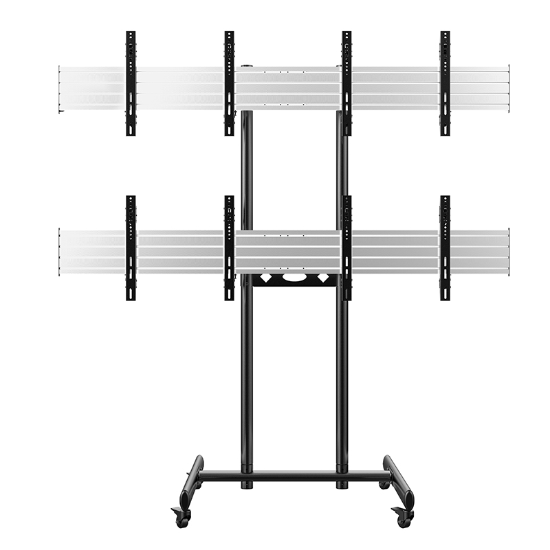 New Multi-screen 2X2 Movable Video TV Wall Cart Stand