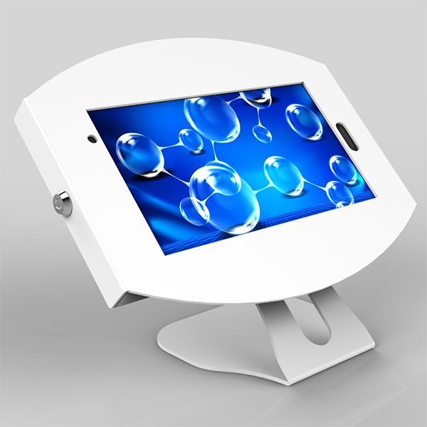 Round Samsung Tablet enclosures desk stand